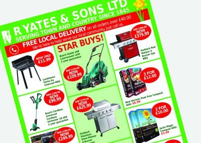 R Yates & Sons Mailer